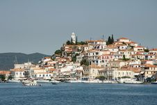 Free View Of The Village At The Poros Island, Greece Royalty Free Stock Images - 26876699