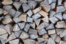 A Pile Of Firewood. Stock Photography