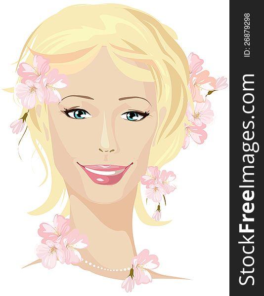 Spring beautiful woman