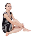 Free Pretty Girl Posing Sitting Isolated Royalty Free Stock Photo - 26884525