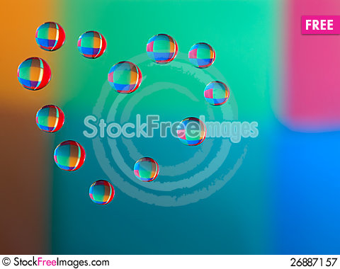 Free Water Droplets On The Glass In The Form Of Heart Royalty Free Stock Photography - 26887157