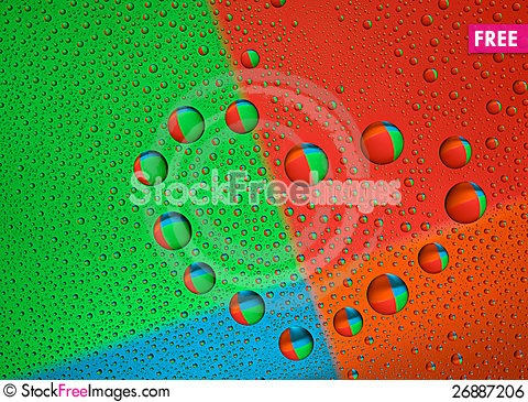 Free Water Droplets On The Glass In The Form Of Heart Royalty Free Stock Image - 26887206