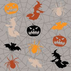 Free Halloween Seamless Background Royalty Free Stock Photos - 26880258