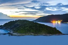 Free Island Near Promthep Capeat Night. Royalty Free Stock Images - 26881769