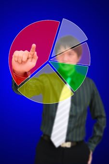 Free Press Blank Of Pie Chart Royalty Free Stock Image - 26882146