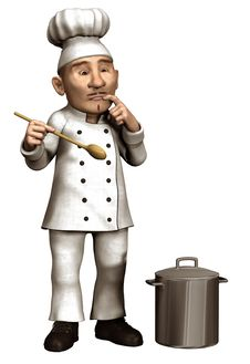 Free Toon Chef With A Pot Stock Image - 26882831