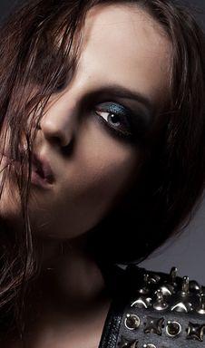 Free Beautiful Fashion Model - Blue Make Up Stock Photos - 26887253