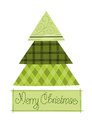 Free Green Pattern Christmas Tree Stock Image - 26894871