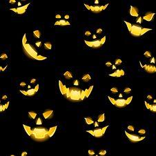 Free Jack-o-lantern Seamless Stock Images - 26890674
