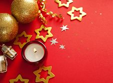 Free Christmas Frame For Greeting Card Royalty Free Stock Photo - 26894145