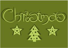 Free Card With Green Background For Christmas Time Royalty Free Stock Image - 26894836