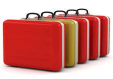 Free Unique Gold Suitcase Stock Photos - 26897983