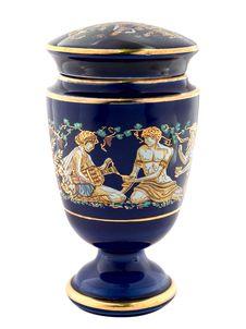 Free Blue Greek Amphora Royalty Free Stock Photography - 2691827