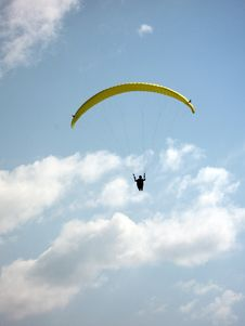 Free Parachute With Man Stock Photo - 2692310
