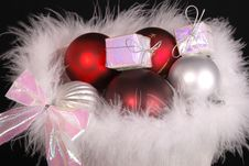 Free Christmas Baubles In Package Stock Photo - 2692700