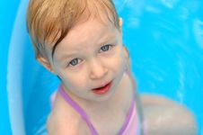 Free Little Girl In Pool Royalty Free Stock Photo - 2693445