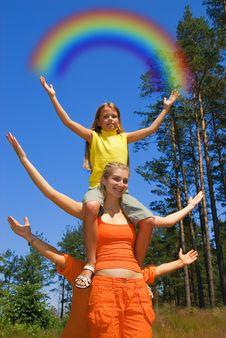 Free Happy Girls Stock Photography - 2695992