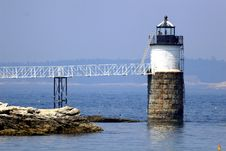 Free Burnt Island Lighthouse Stock Image - 2696171