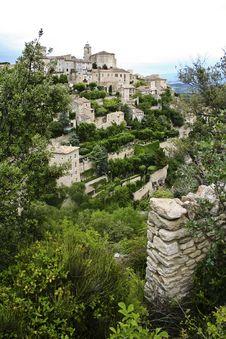 Free Ancient Gordes Hilltop Village Provence France Royalty Free Stock Images - 2697479