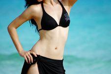 Free Bikini Girl On Tropical Beach Stock Images - 2698074