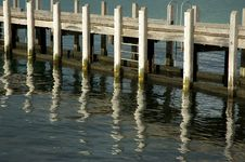 Jetty Reflection Royalty Free Stock Images