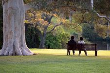 Free Sitting In The Park Royalty Free Stock Photography - 2698957