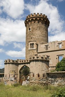 Salvana Tower In Catalonia Royalty Free Stock Photography