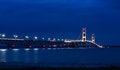 Free Mackinac Bridge At Night Royalty Free Stock Photos - 26901858