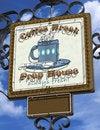 Free Coffee Break Neon Sign Stock Photography - 26902992