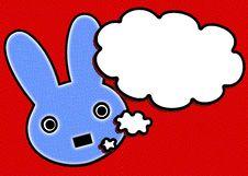 Free Blue Rabbit Royalty Free Stock Photo - 26902975
