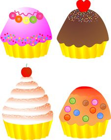 Free Yummy Cup Cakes Stock Image - 26903971