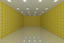 Yellow Tile Wall Royalty Free Stock Photo