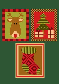 Free Christmas Deer, Tree And A Sock Royalty Free Stock Image - 26907936