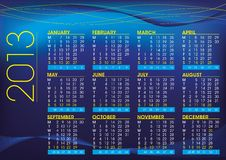 Free 2013 Calendar In English Night Mood Stock Photos - 26908493