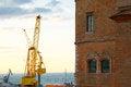Free Cargo Crane In Sea Port Of Ancona Italy Royalty Free Stock Photography - 26910867