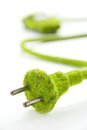Free Green Electric Plug With Eco Car Icon Stock Images - 26910944