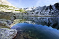 Free Alpine Lake Reflection - Retezat Mountains Stock Photography - 26914112
