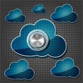 Free Chrome Volume Knob With Transparency Clouds Stock Images - 26915704