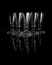 Free Old Crystal Shot Glasses Stock Photography - 26916722