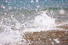 Free Sea Splashes Closeup Stock Photography - 26910612