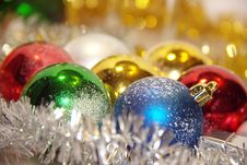 Free New Year Toys - Colorful Balls Royalty Free Stock Photography - 26910697