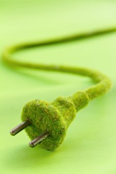 Free Abstract Image Of Green Electric Plug Stock Photography - 26910942