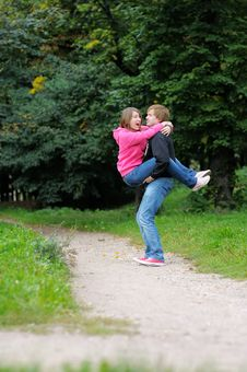 Free Young Couple Having Fun Royalty Free Stock Image - 26911006