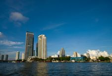 Cityscape Of  Bangkok Royalty Free Stock Photos