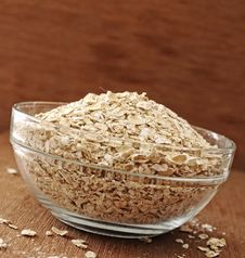 Free Oatmeal In Glass Bowl Stock Photos - 26913203