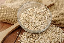 Free Oatmeal In Glass Bowl Stock Images - 26913214