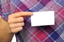 Free Holding Name Card Stock Photo - 26913220