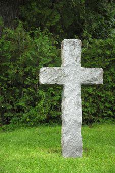 Stone Cross Royalty Free Stock Image