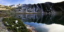 Free Alpine Lake Reflection - Retezat Mountains Stock Photo - 26913930