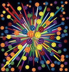 Free Colorful Balls Firework Royalty Free Stock Photo - 26914495